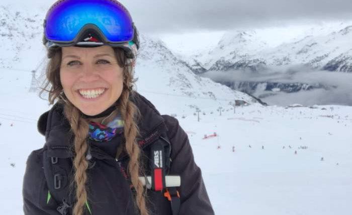 Британская лыжница