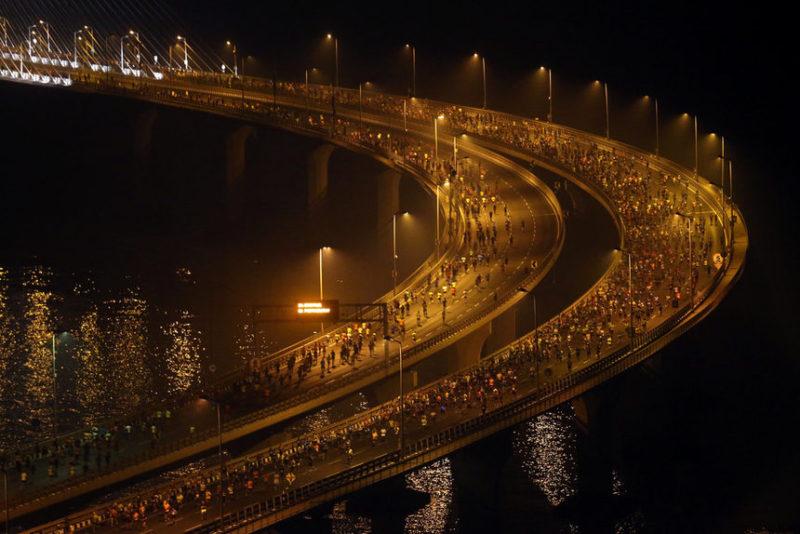 Марафон в Мумбаи, Индия.