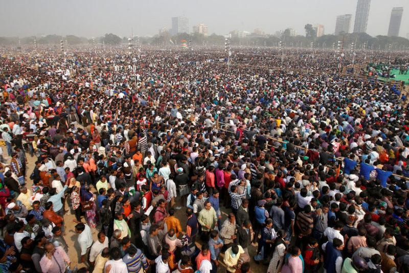 Сторонники главной оппозиционной партии в Индии