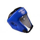Шлем турнирный Berserk-sport (кожа) blue размер L,интернет-магазин REXSport.