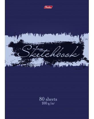 Hatber, 80л, А5, без линовки, твёрдая обложка, на гребне, серия ScratchBook