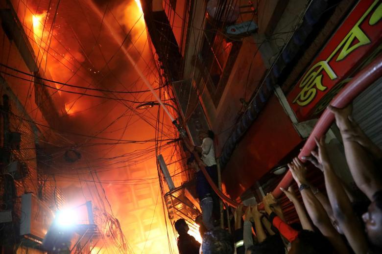 Вид на место пожара