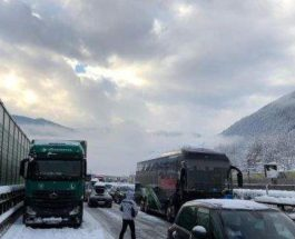Италия пробка снег