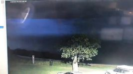 НЛО во время грозы