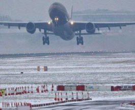 Самолет снег аэропорт