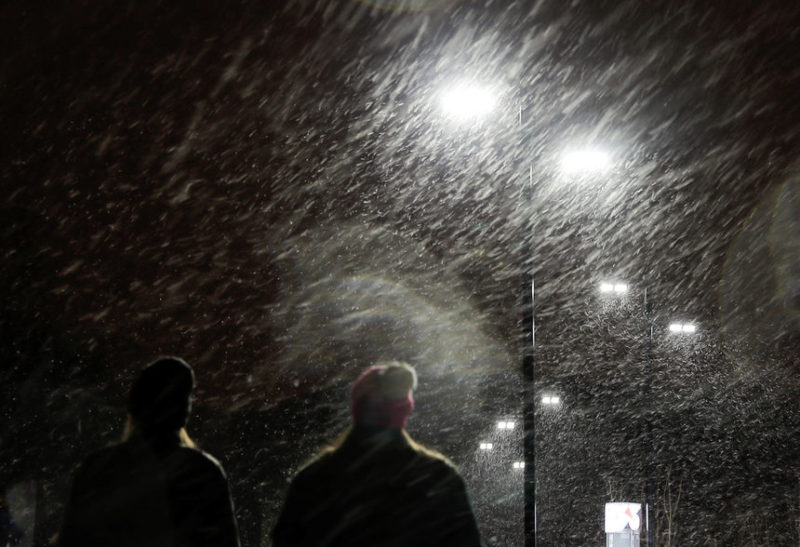Сильный снегопад в Москве, Россия
