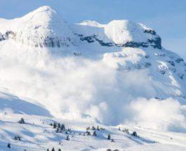 Альпы,лавина
