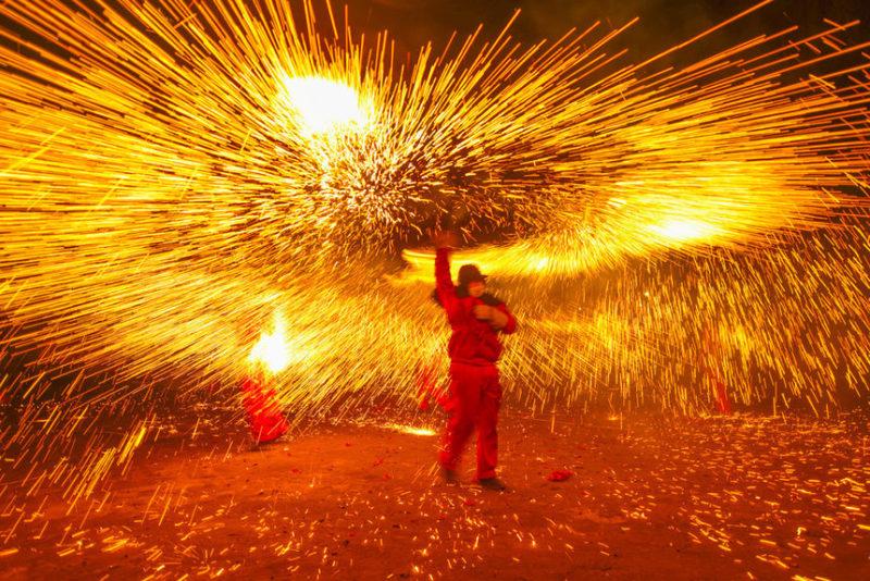 на китайском фестивале фонарей
