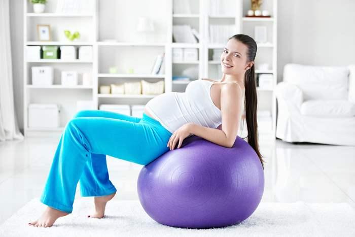 фитнес беременная