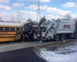 Автобус школьный авария