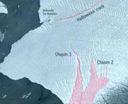 Антарктида трещины ледник