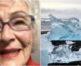Бабушка фотографировалась на льдине