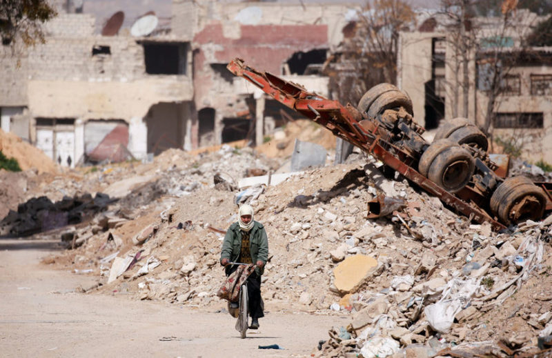 Кадр с востока Гуты, Сирия.