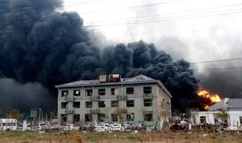 Китай взрыв