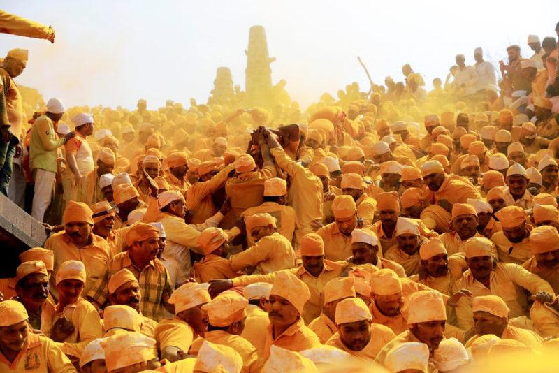 в храме в Чеджури