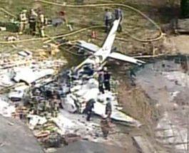 самолет упал на дом