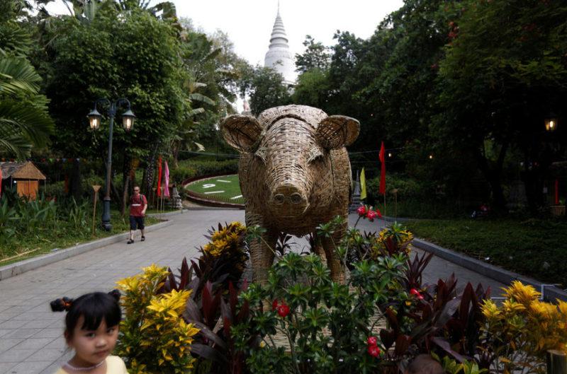 Бамбуковая копия свиньи