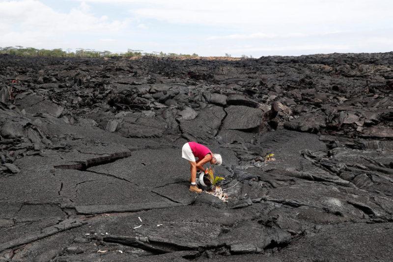 Последствия вулкана на Гавайях.