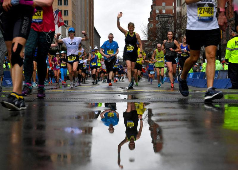 Участники 123-го Бостонского марафона