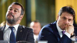 Вице-премьер Италии Маттео Сальвини и премьер-министр Джузеппе Конте