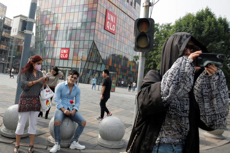 В торговом районе в Пекине