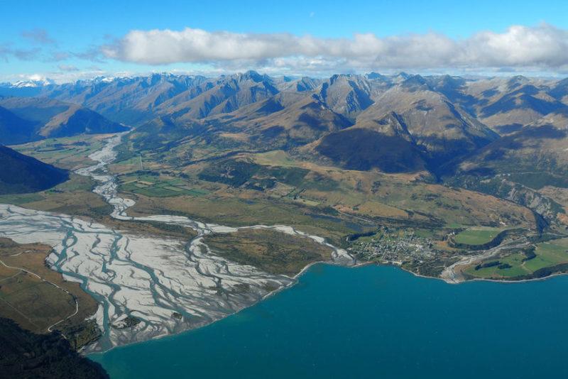 Город Гленчи в Новой Зеландии.