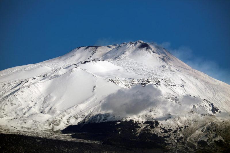 Кадр вулкана Этна