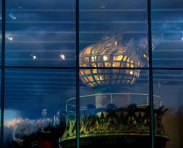 Кадр из открытия статуи Свободы