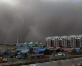 Китай песчаная буря