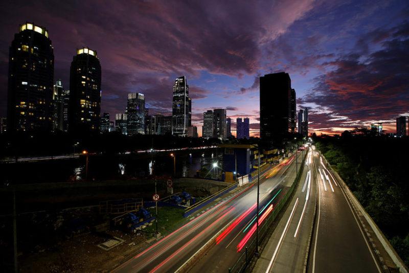 Пейзаж из Джакарты, Индия.