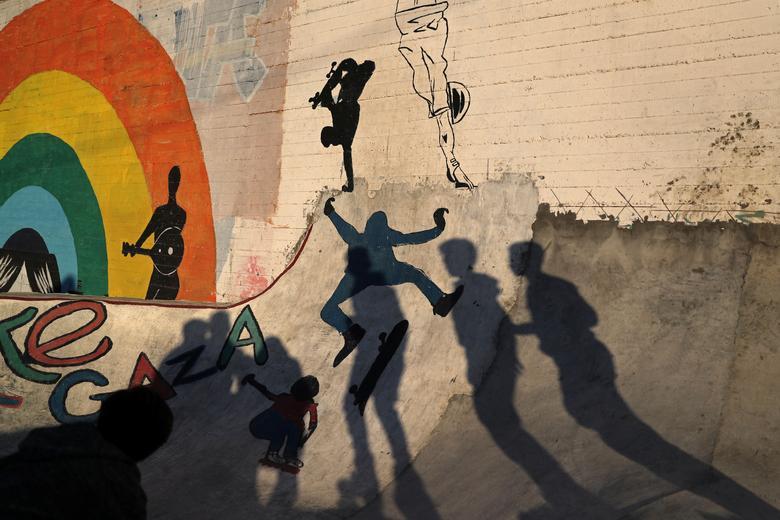 Скейтеры в Газе
