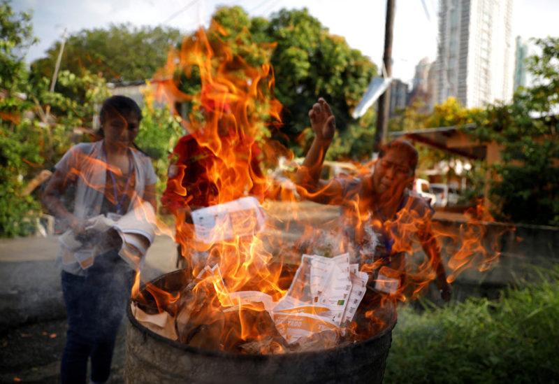 Сотрудники сожгли неиспользованные бюллетени