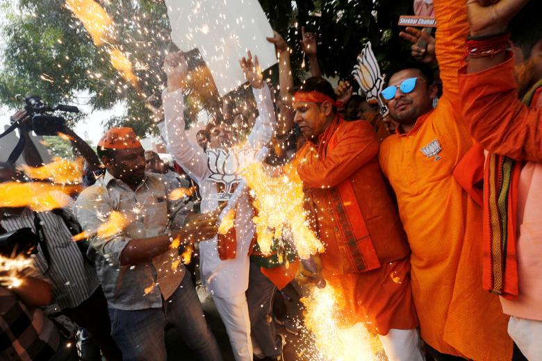 Сторонники BJP