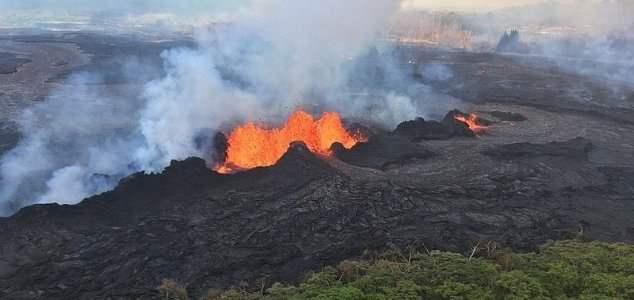 падение в вулкан