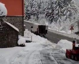 снег италия