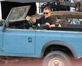 Blue Land Rover