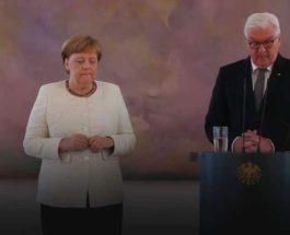 Ангела Меркель задрожала