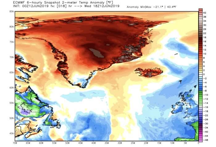 Гренландия потепление