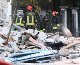 Италия взрыв газа.