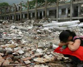 Китай землетрясение