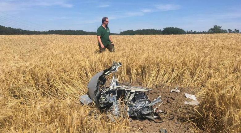 Обломки самолета Eurofighter