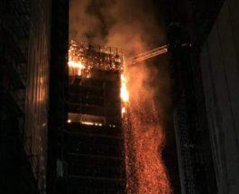 Польша пожар
