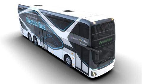 двухэтажный электрический автобус