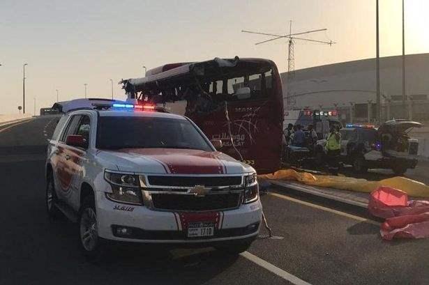 дубай автобус авария