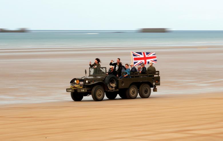 на побережье в Нормандии