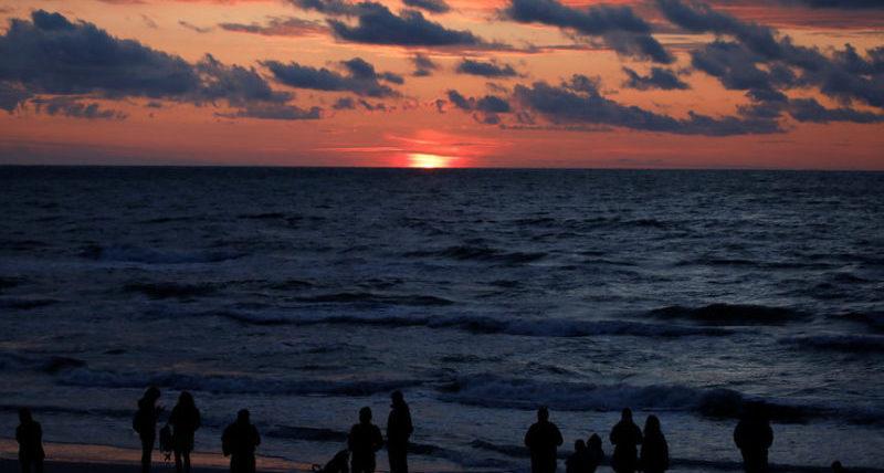 Закат над Балтийским морем