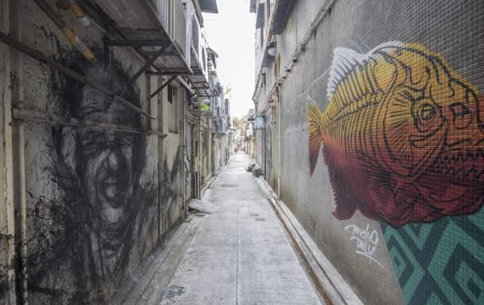 Улица в Гонконге, Китай.