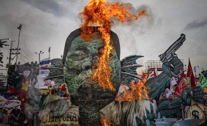 Филиппинские демонстранты
