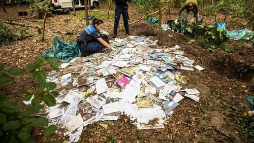 In the Netherlands the postman buried letters in the forest