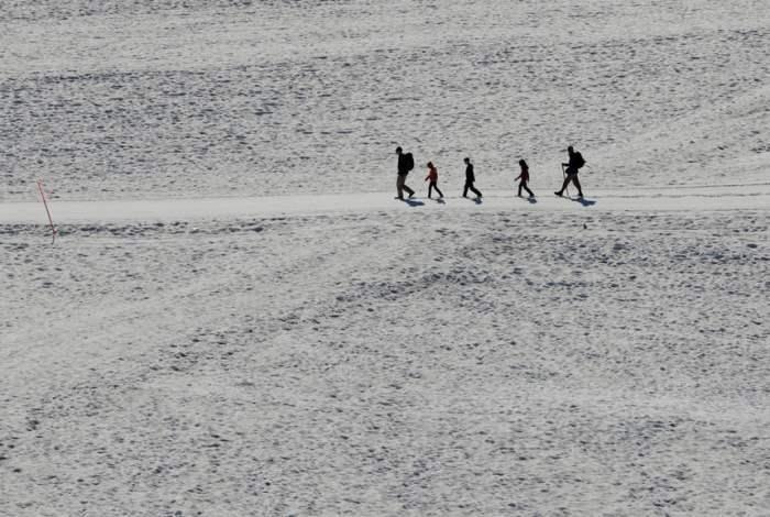 на леднике Дахштайн